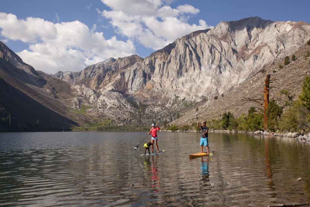 Paddle boarding at Convict Lake 13