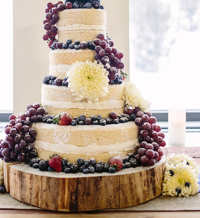 naked wedding cake | Mountain Cakery in Mammoth Lakes California